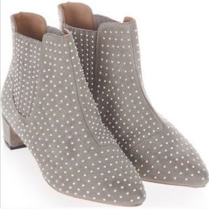Size 39 TOPSHOP Gray Studded Booties